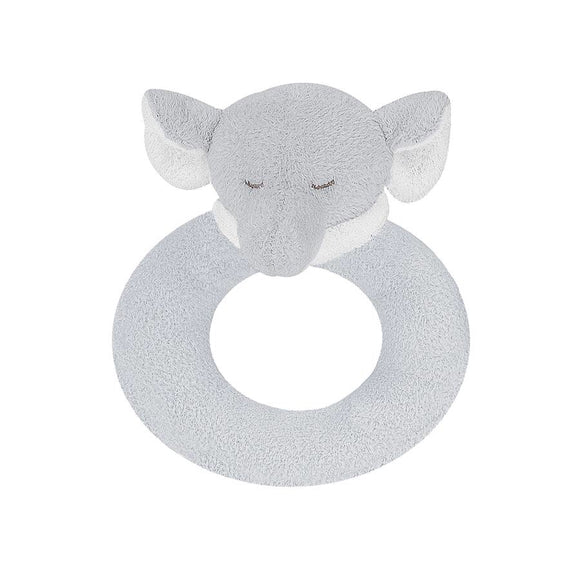 RING RATTLE - GREY ELEPHANT