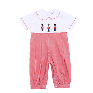 NUTCRACKER EMBROIDERED BOYS ROMPER