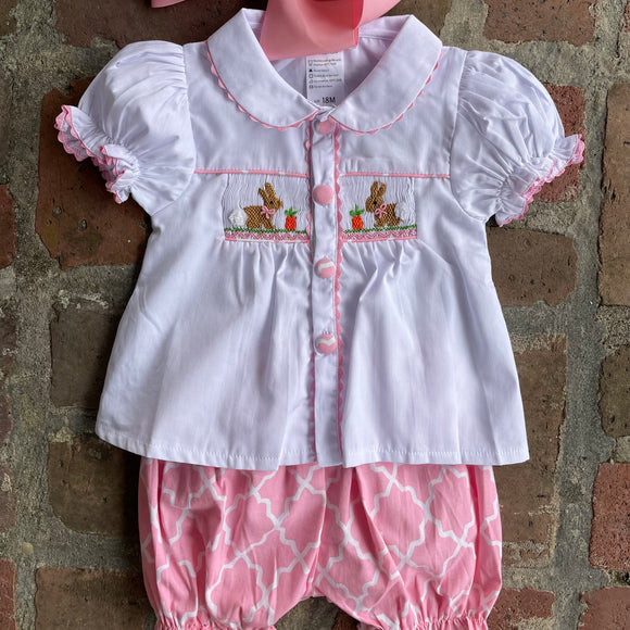 EASTER SMOCK 2PC SHORT SET