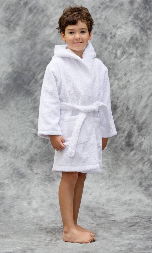 KIDS MONOGRAM HOODED TERRY ROBE or COVER UP