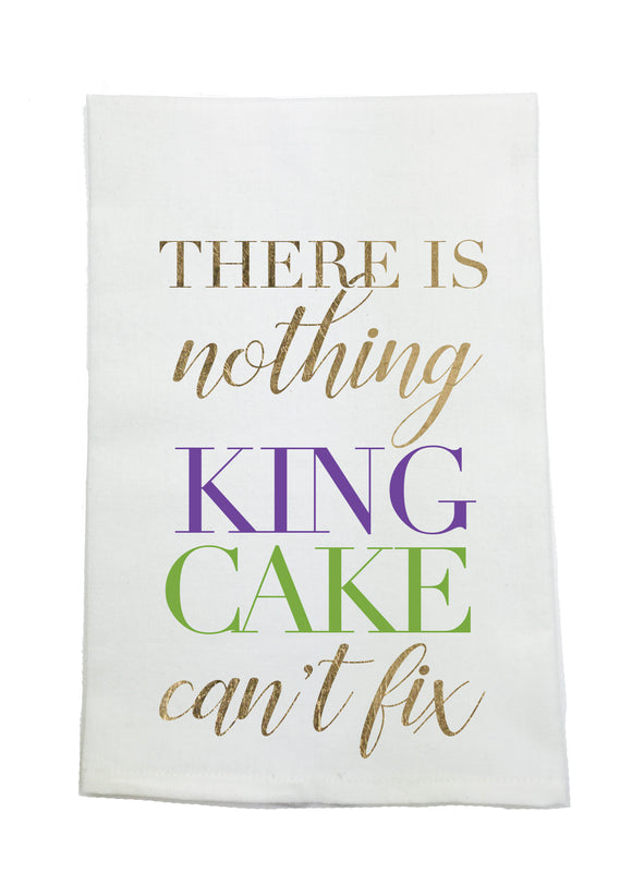 MARDI GRAS KING CAKE TOWEL