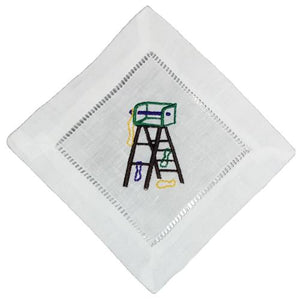 MARDI GRAS COCKTAIL NAPKINS LADDERS S/4