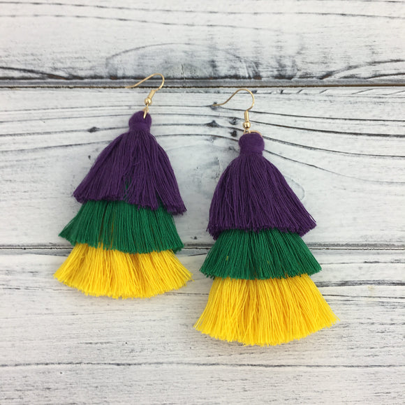 EARRINGS MARDI GRAS SMALL