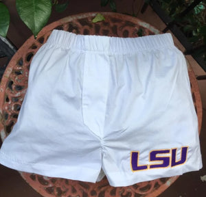 EMBROIDERED LSU BABY BOXER-DIAPER COVER
