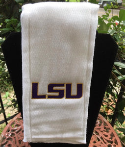 LSU EMBROIDERED BURP CLOTH