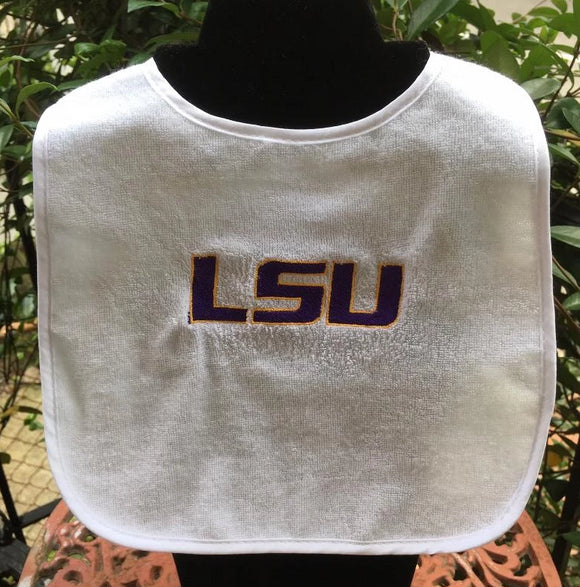 LSU EMBROIDERED BIB