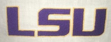 LSU EMBROIDERED WHITE WAFFLE ROBE MEN & WOMEN