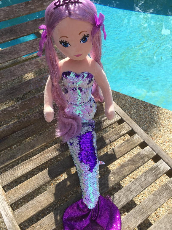LORELEI Mermaid - Sequin PURPLE Large Mermaid by Ty