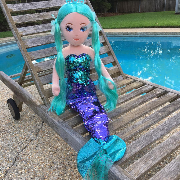 WAVERLY Mermaid - Sequin EMERALD Large Mermaid by Ty