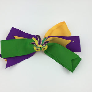 MARDI GRAS MUTLI COLOR HAIRBOW