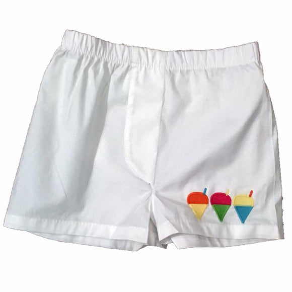 EMBROIDERED MULTI SNOWBALL BABY BOXERS DIAPER COVER