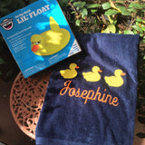 MONOGRAM BEACH or BATH TOWEL 3 DUCKS & NAME