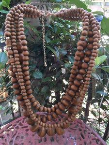 NECKLACE MULTI LAYERED WOOD BEADS