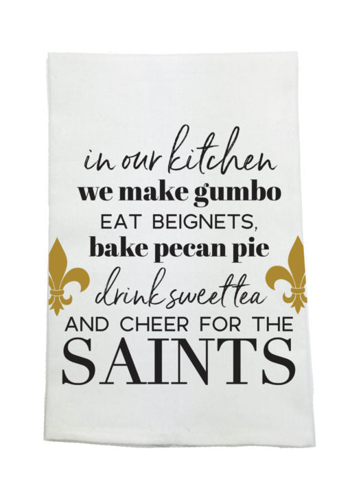 SAINTS PRINTED KITCHEN TOWEL