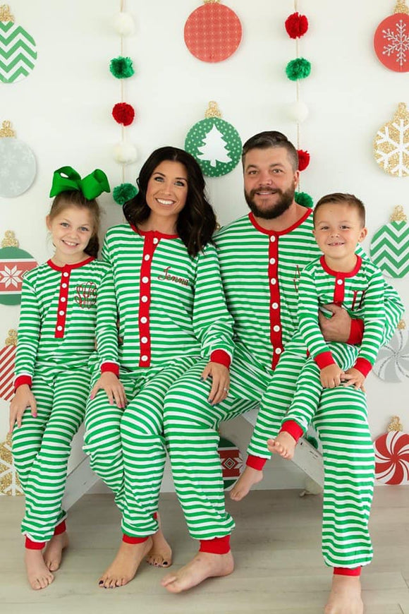 MONOGRAM CHRISTMAS ONESIE PJs ADULTS