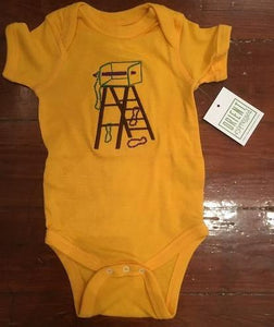 MARDI GRAS LADDER  ONESIE GOLD