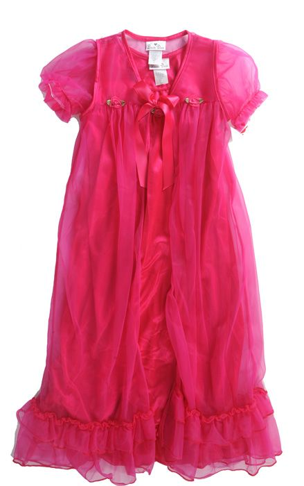 PRINCESS NIGHTGOWN SET BRIGHT PINK