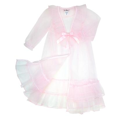 PRINCESS NIGHTGOWN SET WHITE PINK