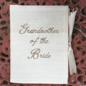 SILK PHOTO BOOK GRANDMOTHER OF THE BRIDE or GROOM
