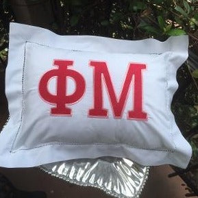 EMBROIDERED SORORITY PILLOW