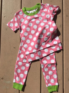 MONOGRAM DOT PJS MEDIUM PINK