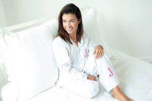 MONOGRAM SEERSUCKER WOMEN'S PJS