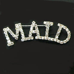 RHINESTONE MAID PIN