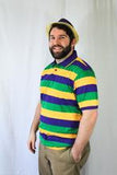 MARDI GRAS ADULT RUGBY PURPLE GREEN AND GOLD STRIPE