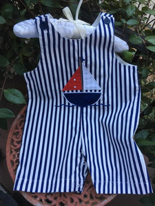 SAILBOAT APPLIQUE STRIPE BOYS JOHN JOHN