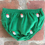EMBROIDERED SANTA CORDUROY DIAPER COVER
