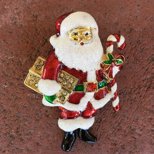 Christmas Santa Brooch