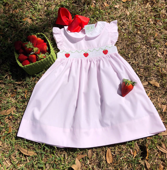 SMOCK STRAWBERRY DRESS