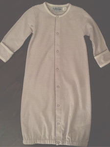 LAYETTE KNIT GOWN LONG SLEEVE STRIPE
