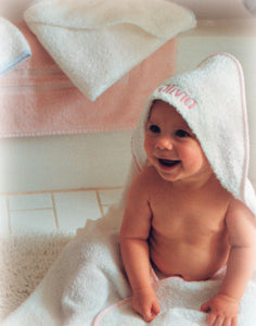 MONOGRAM HOODED TERRY HOODED TOWEL & BATH GLOVE SET