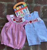 "BOYS SMOCK ""I LOVE DAD"" JOHN JOHN"