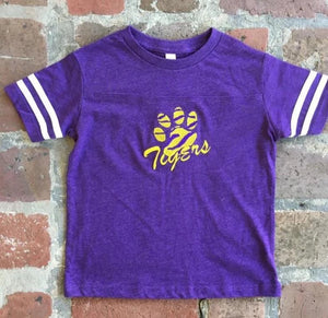 EMBROIDERED LSU FOOTBALL JERSEY STYLE T SHIRT
