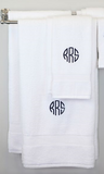 EMBROIDERED BATH TOWEL 8PC WHITE SET