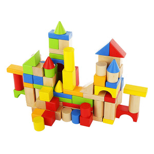 TimberBlocks - 100 Piece Wooden Block Set
