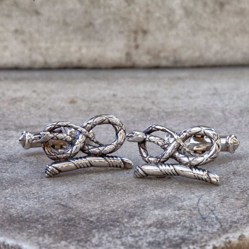 Sterling silver Devonshire serpent cufflinks
