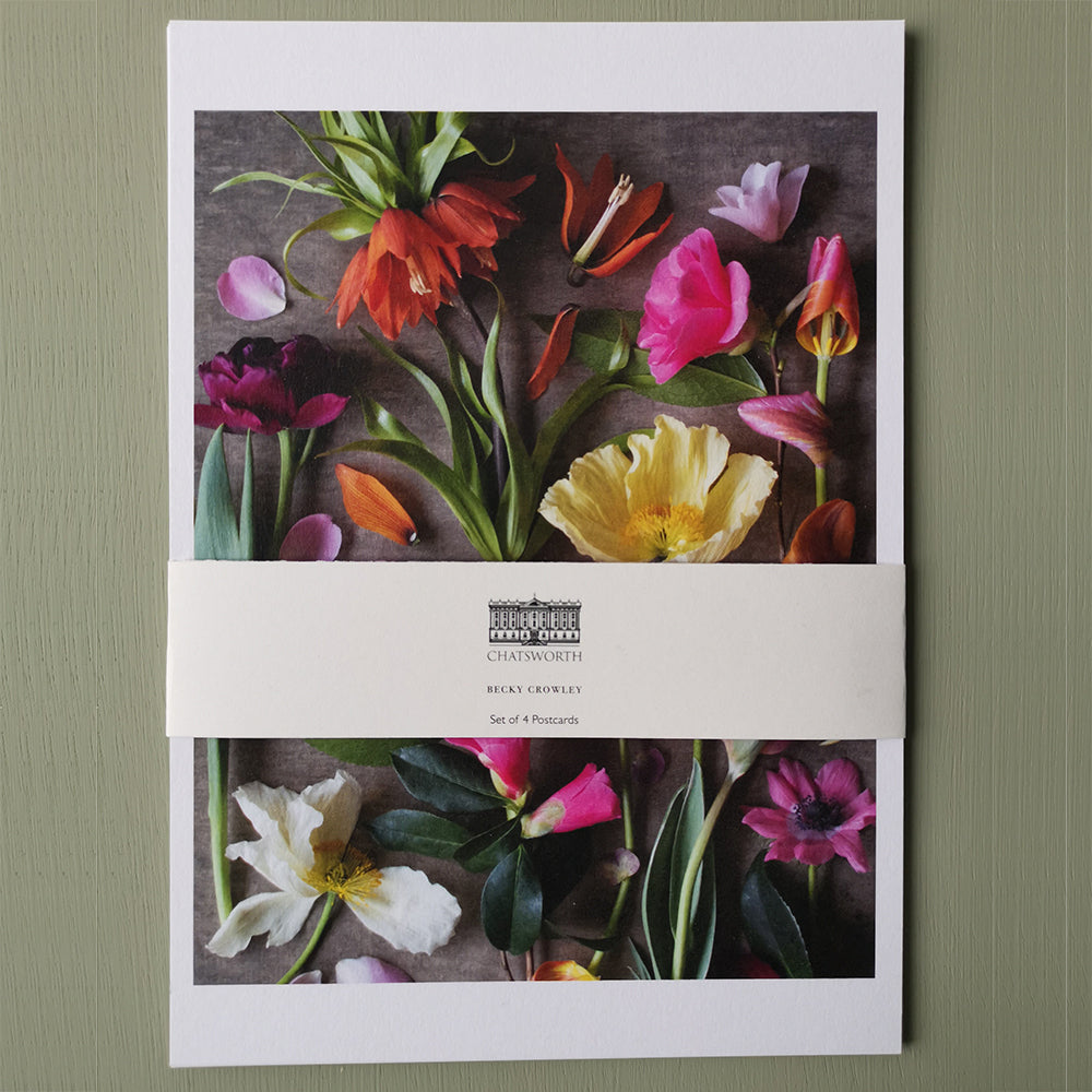 Cutting garden floral postcards