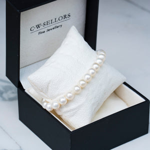 8-8.5mm white pearl stretch bracelet