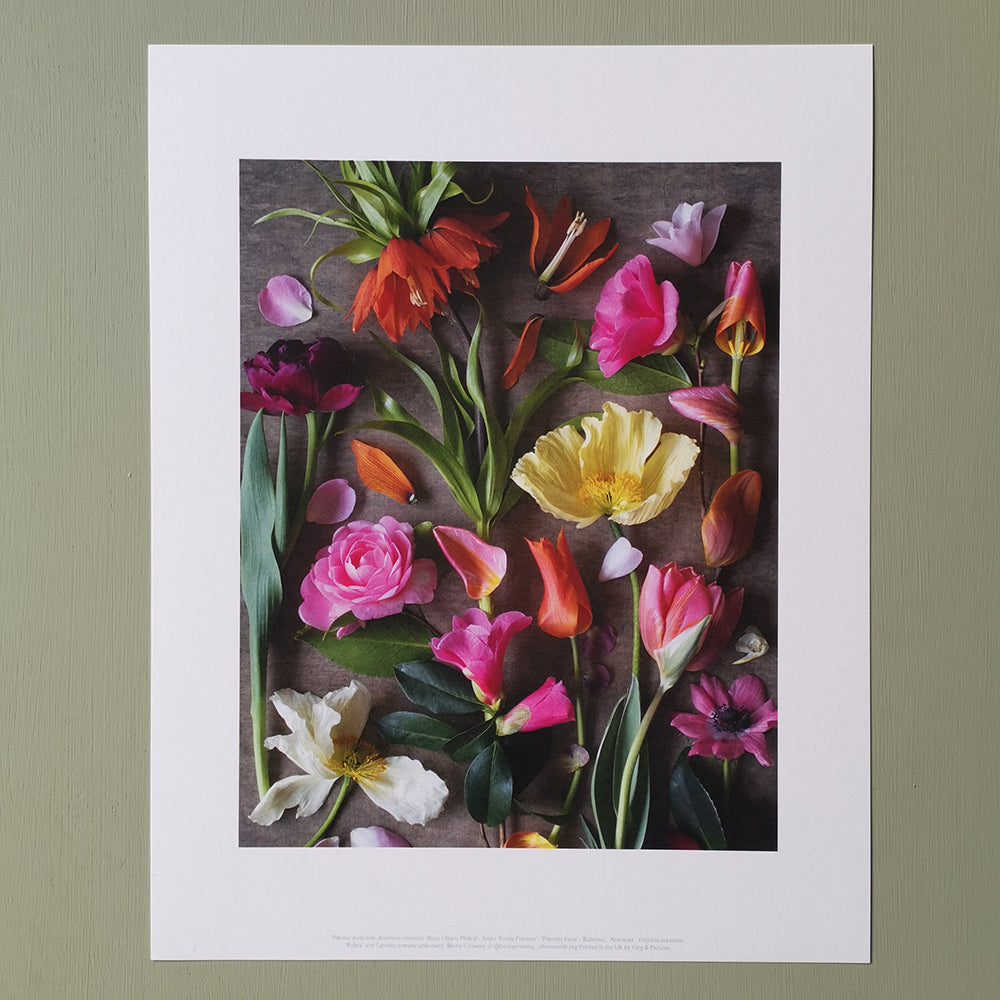 Becky Crowley medium print - bright floral composite
