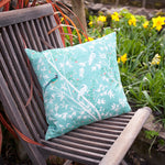 Chinese wallpaper cushion cover, cream or blue