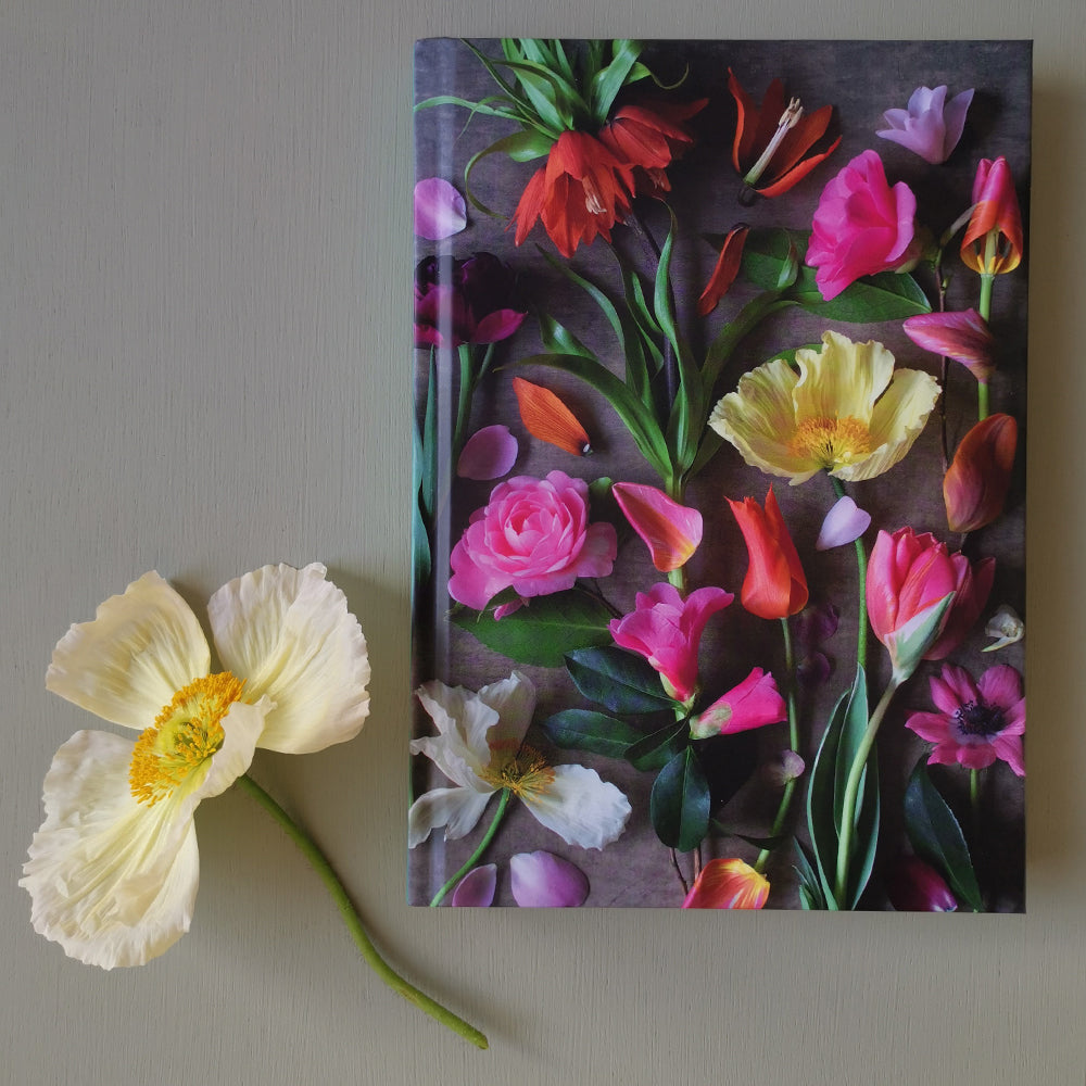 Becky Crowley hardback notebook - bright floral composite