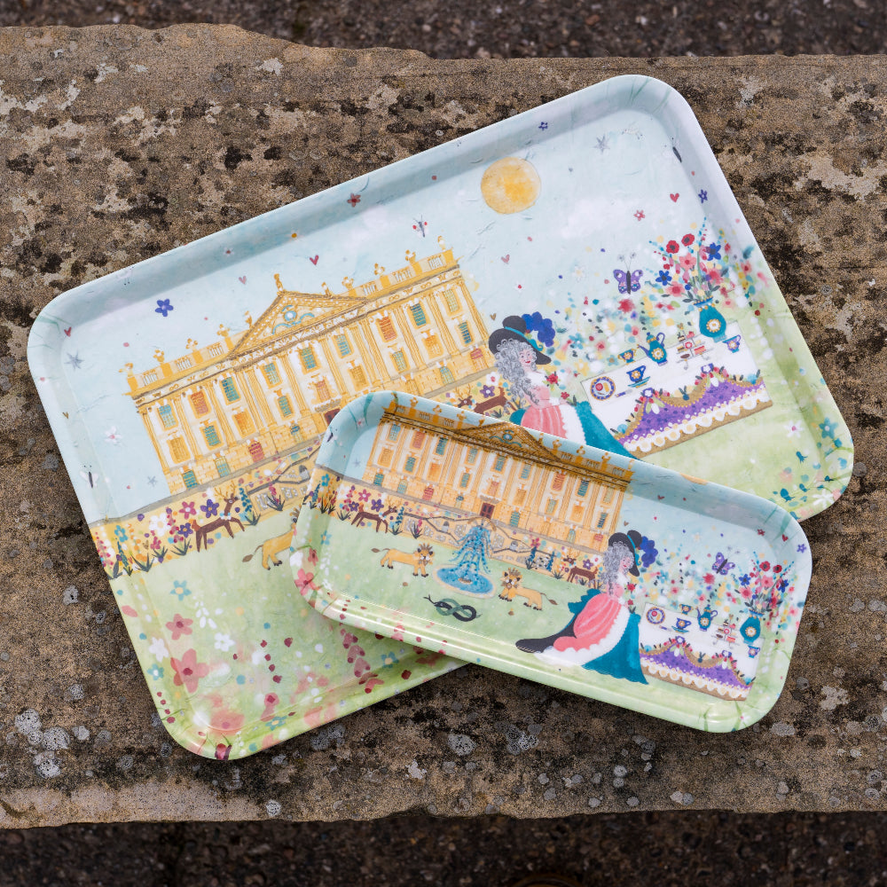 Tea and Biscuits on the Lawn tray, small or large