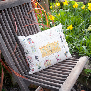 Lucy Loveheart RHS Chatsworth Flower Show cushion