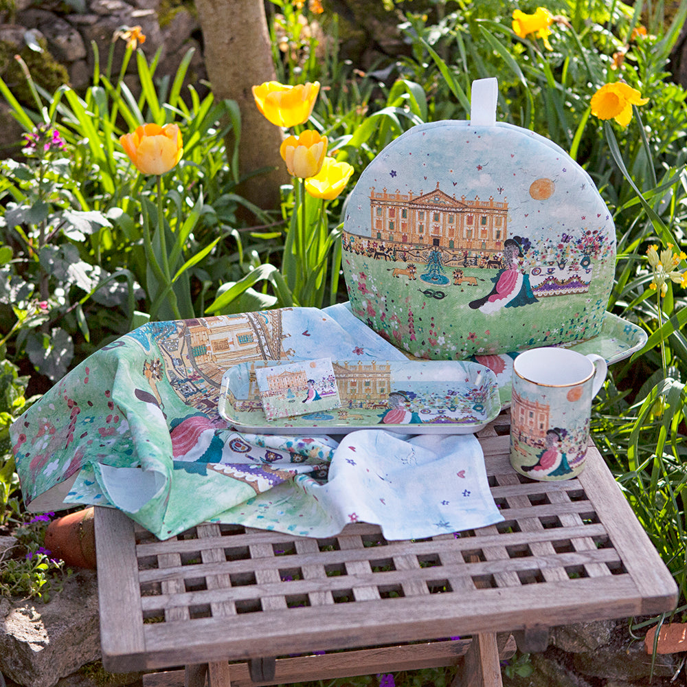 Tea and Biscuits on the Lawn gift set