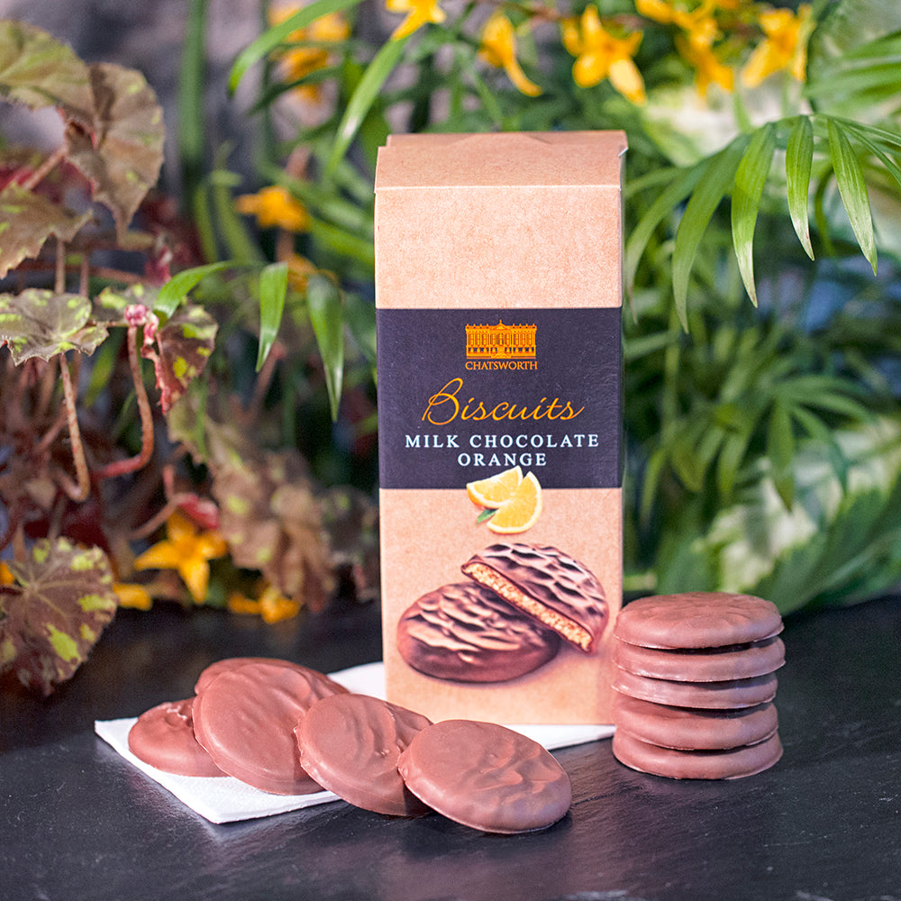 Milk chocolate orange biscuits