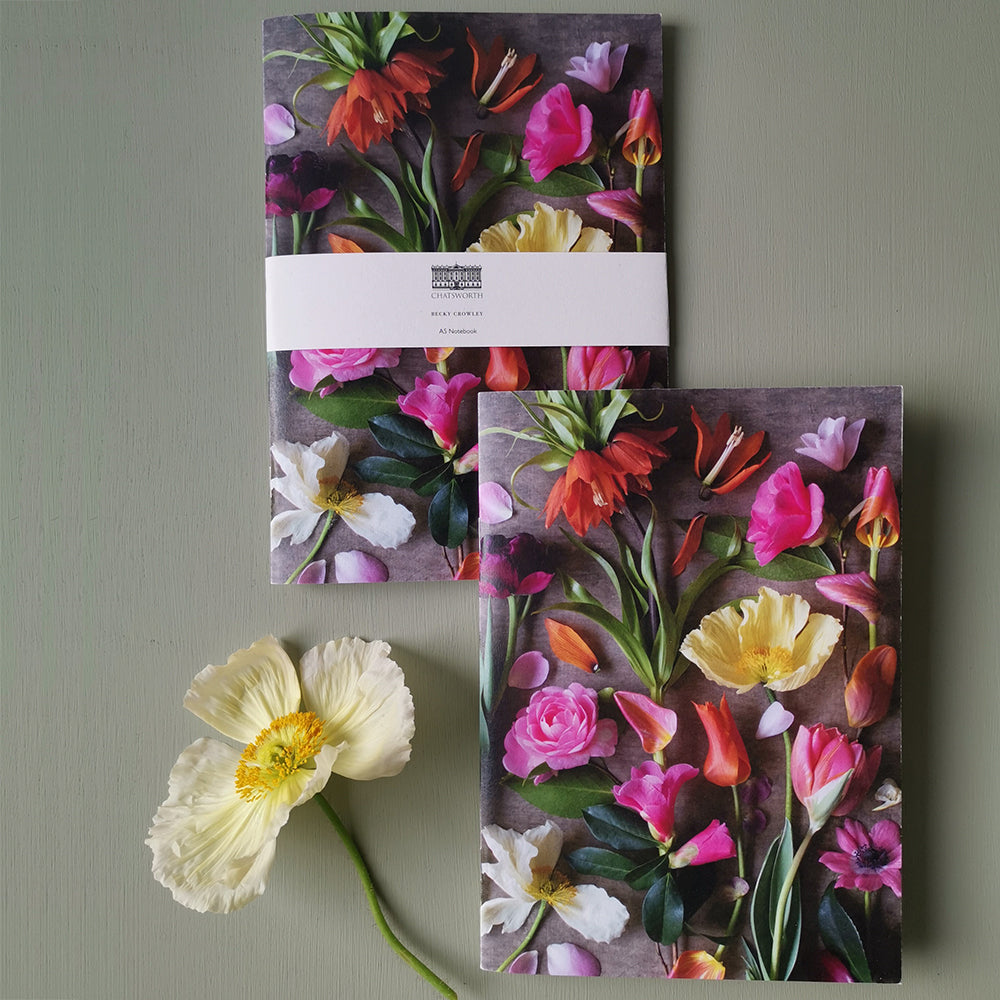 Becky Crowley softback notebook - bright floral composite