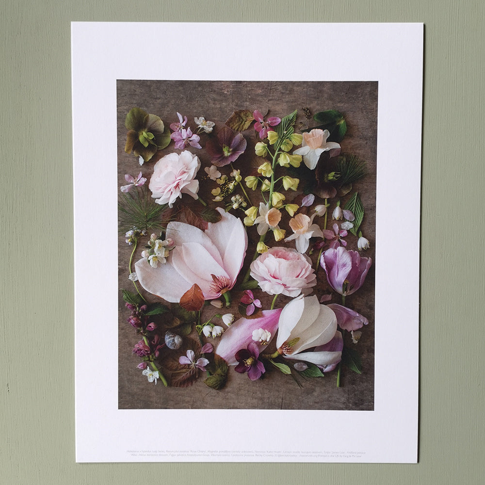 Cutting garden pink floral composite print, medium